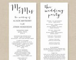 wedding programs diy wedding program templates the free website templates