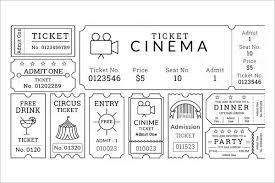 ticket template raffle ticket template free word pdf format creative