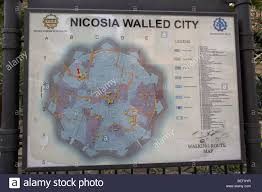 Map A Walking Route by Tourist Information Map Of Walking Tours Of The Nicosia Walled