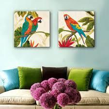 online get cheap painting parrot canvas hand aliexpress com