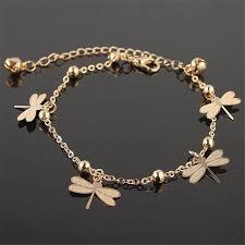 ankle bracelet gold images New arrivals dragonfly ankle bracelet on the leg for women gold jpg