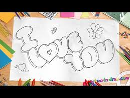 how to draw u0027i love you