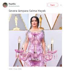 Salma Hayek Meme - twitter vestido de salma hayek en los oscar es blanco de memes