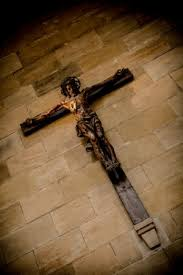 jesus on the cross picture of st vitus cathedral prague