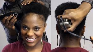 short haircuts for thin natural hair watch me taper cut her natural hair beautycutright youtube