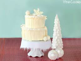 winter wonderland snow cake tip junkie