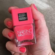 pretty in pink nails inc gel effect nail polish in berkeley