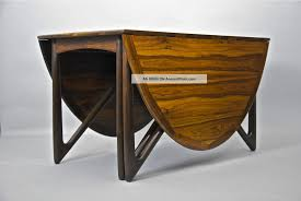 1950 dining room furniture danish rosewood folding dining table by kurt ostervig vintage
