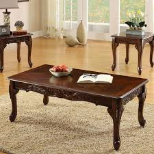 3 piece end table set fraser old english style cherry finish 3 piece coffee end table
