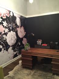 Large Wall Murals Wallpaper by Tnwallpaperhanger Watercolor Wall Mural U0026 Dark Floral Wallpaper