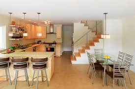 Lake House Kitchen by Cantilevered Lake House Elizabeth Liz Herrmann Vt Architect