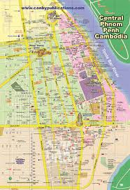 map central phnom penh maps cambodia