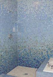 Blue Glass Tile Bathroom - glass mosaic tile shower photo gallery