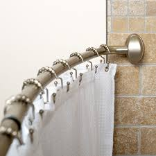 Bendy Shower Curtain Rail - croydex curved shower curtain rail shower curtain rod
