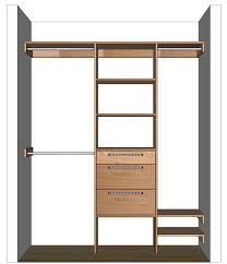 Design A Closet Diy Closet Organizer Plans For 5 U0027 To 8 U0027 Closet