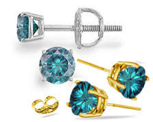 blue diamond stud earrings browse colored diamond stud earrings online jewelry at