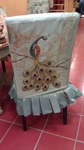 dining room chair cover ideas dining room design awesome peacock parsons chair slipcovers on