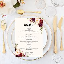 5 course menu template 5 bridal shower menu templates free psd vector eps ai