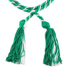 honor cords green and white honor cords other products