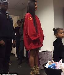 kim kardashian emerges with kanye west to take north to the ballet