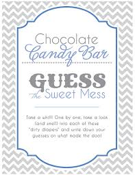 Baby Shower Candy Buffet Sign by Baby Shower Game Table Sign Chocolate Candy Bar Game