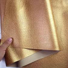Buy Leather Fabric For Upholstery Golden Faux Leather Pu Leather Fabric Sewing Artificial Leather