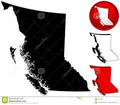 British Columbia Canada Map map of british columbia canada stock images image 5358794