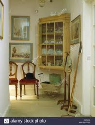 Antique Dining Furniture Antique Pine Corner Cupboard Above Vintage Dolls U0027 Pram In Hall