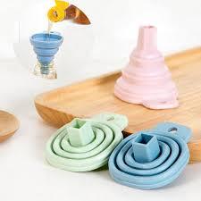 entonnoir de cuisine pratique silicone gel pratique pliable pliable entonnoir trémie
