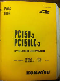 komatsu pc150 3 pc150lc 3 hydraulic excavator parts manual book