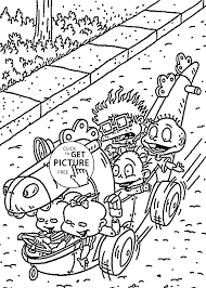 cartoons coloring pages for kids free printable