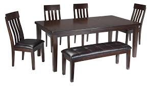 Dining Room Table Set With Bench Signature Design By Ashley Haddigan 6 Piece Rectangular Dining