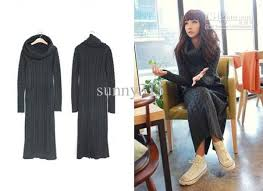 Wool Skirts For Winter Women Sweater Maxi Long Knit Dress Dresses Outerwear Ladies