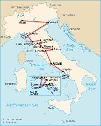 Italy On Map Map Of Italy You Can See A Map Of Many Places On The List On The