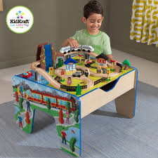 Thomas The Train Play Table 62 Piece Wooden Train Set With Train Table Trundle Brio And