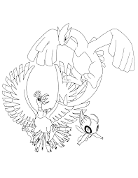 lugia and ho oh coloring pages to print sketch coloring page