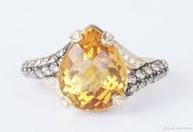 diamond cocktail rings 2017 14k yellow gold levian citrine chocolate diamond cocktail