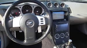 nissan 350z steering wheel 2004 nissan 350z blue stock b1995a interior youtube