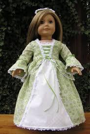 the doll wardrobe dollies dressmaker colonial gown kids stuff