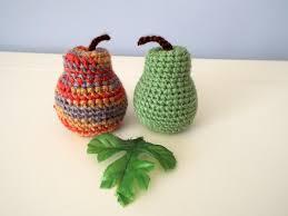 crochet pears crochet fruits crochet food gifts kitchen decoration