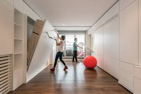 Movable Walls For Apartments Stella House Optimal Use Of Space By Using A Motorized Movable Wall