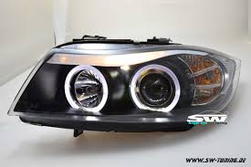 bmw headlights angel eye headlights 3er bmw e90 e91 led helo rims black 05 13