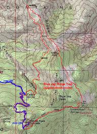 Mt Lemmon Hiking Trails Map Blue Jay Ridge Loop U2022 Hiking U2022 Arizona U2022 Hikearizona Com