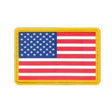 Dominican Republic Flag Patch Usa American Flag Full Color Rubber Pvc Morale Hook 2x3 Uniform