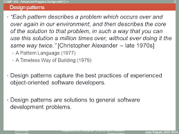 pattern language of program design concordia university department of computer science and software