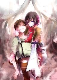 anime couple mikasa x eren anime anime couples and other e e