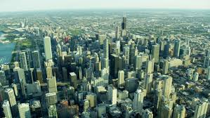 Michigan business travel images Aerial chicago illinois america metropolitan aron tower millennium jpg