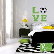 love soccer wall decal for girls soccer mural