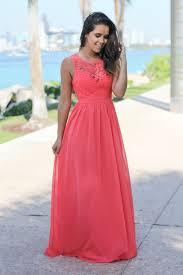 coral lace maxi dress coral bridesmaid dress maxi dresses