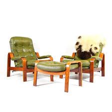 Reclining Lounge Chair 2 Retro Vintage Danish Leather Reclining Lounge Armchair Chair